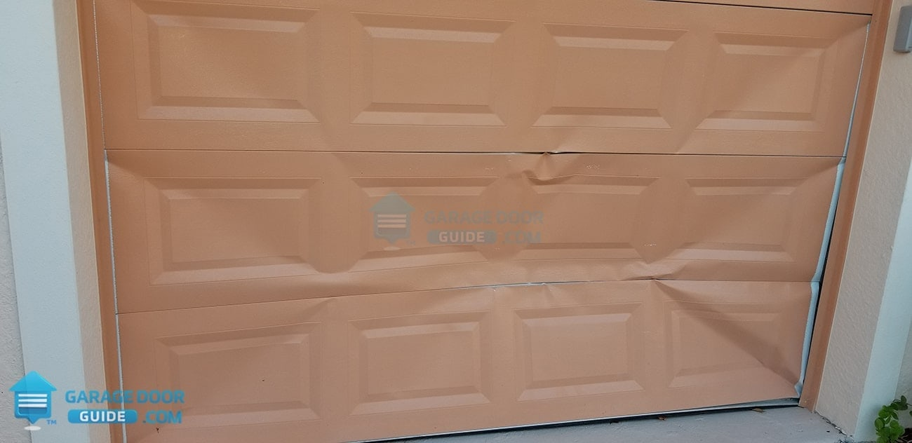 Garage Door Backed Into