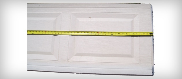 Garage Door Panel Measure